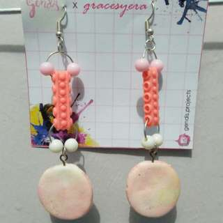 Anting polymer clay marble
