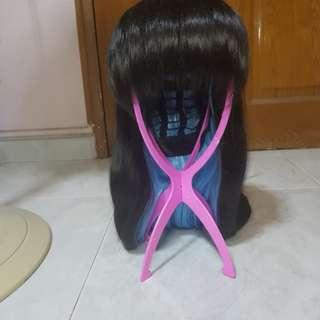 WTS blue black harajuku wig