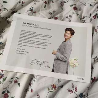 Official park bo gum fan meeting postcard