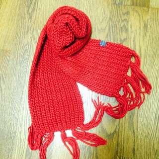 🚚 🎄聖誕老公公正紅色針織圍巾❤️
