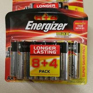 [SALE] Energizer Max AA 12pcs 1.5V Battery (8+4pcs)