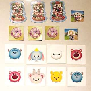 Various Tsum Tsum stickers