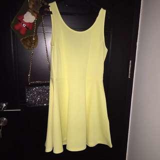 Hnm Dress - Light Yellow