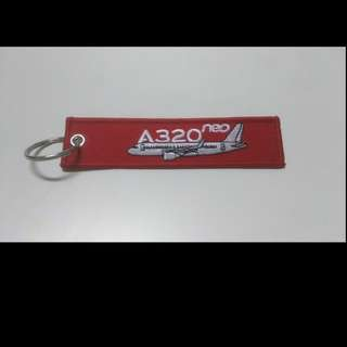 Keychain REMOVE BEFORE FLIGHT Airbus A320 Neo