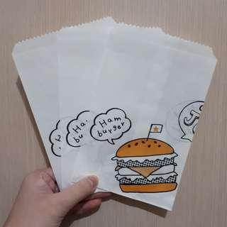 漢堡紙袋3入