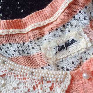 Five Plus (Made in Korea) - Girly Lace Cardigan
