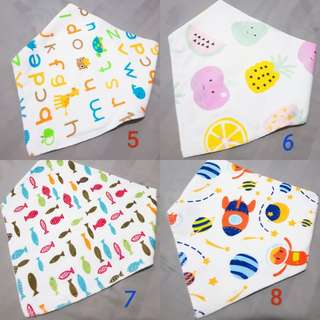 Baby Triangle Bibs Towel