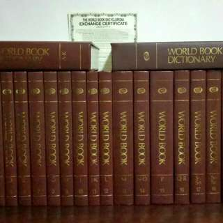 The World Book Encyclopedia Sets  + Dictionary