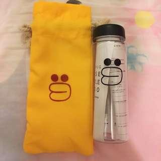 Line friends Sally plastic bottle水樽水壺