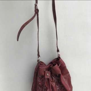 PRELOVED Original Nine West Red Bucket Bag