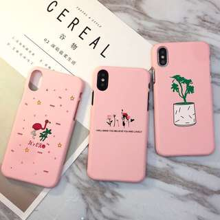 IPhone x手機殼(Pink style )