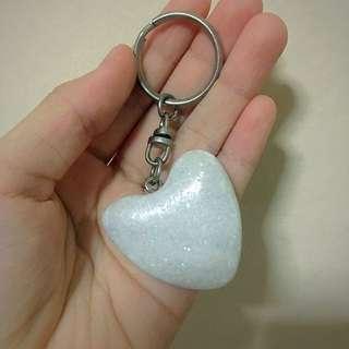 Natural Stone Heart keychain