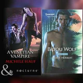 Harlequin Nocturne Novels.