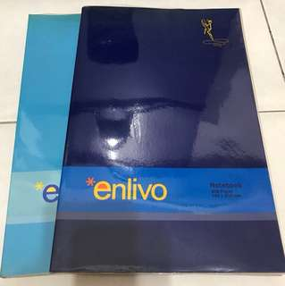 Enlivo notebook with plastic cover
