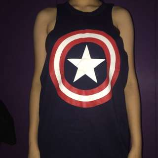 Captain america muscle tee