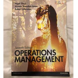 Operations Management by Nigel Slack, Alistair Bandon-Jones and Robert Johnston (7th Edition)