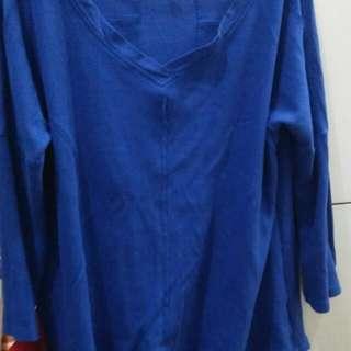 Blue longsleeves top