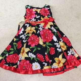 Floral print girls dress