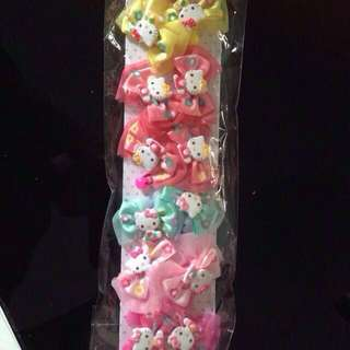 Hello kitty and strawberry hair clip / rubber bsnd