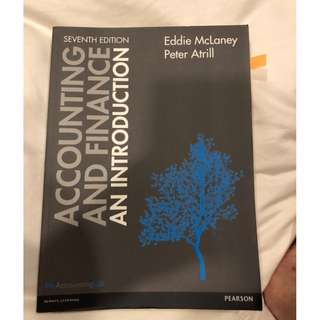 Introduction to Accounting and Finance by Eddie McLaney and Peter Atrill (7th ed)