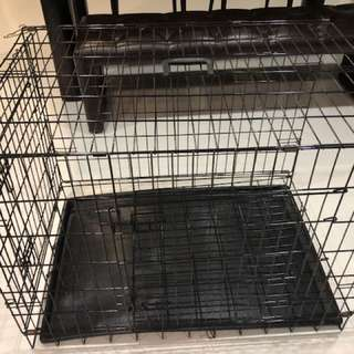Double Door Large Crate for Dogs