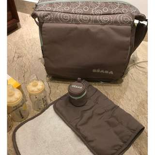 Beaba Vienna Diaper Bag ickl. change mat and pacifier holder