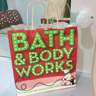 Paperbag bath & body works holiday edition