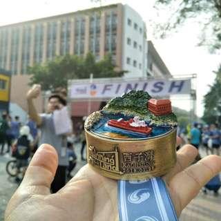 馬拉松獎牌西子灣路跑獎牌 台灣地標西子灣立體獎牌 玩轉大地 高雄西子灣路跑獎牌10K組