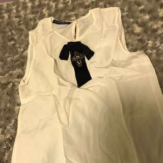 Dolce and gabbana silk top 100%real 80%new size36 不議價