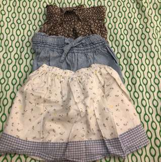 3 for $10 Carters Mothercare Skirt Shorts 18 months