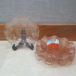 Vintage dodol plates - pink