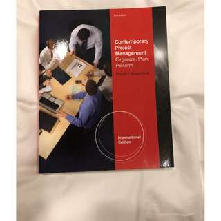 Contemporary Project Management by Kloppenborg (2nd ed)