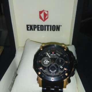 Expedition E 6402 MC black rose gold