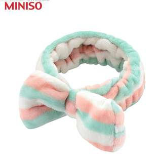 (INSTOCK) MINISO STRIPES COSMETIC HEADBAND
