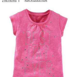 Brand New Oshkosh Best Day Sparkle Tee