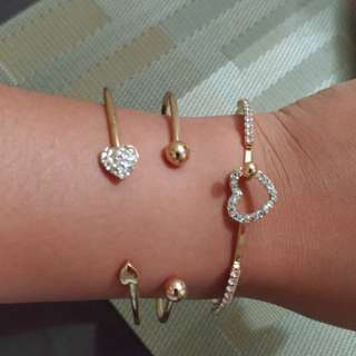 BUNDLED Rose Gold Bangles