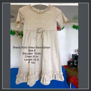 Rare Edition Gold Dress 6-7 y.o.