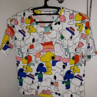 Snoopy Crop Top