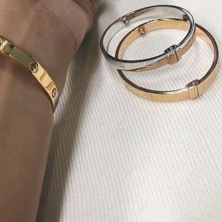 Pawnable GOLD CARTIER LOVE bangle 18K single tone✨