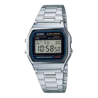 Casio Vintage A158WA-1D Silver Stainless Watch Men & Women - COD FREE SHIPPING
