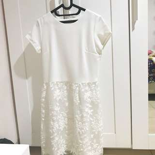 Eprise La Carriere White Dress Size M