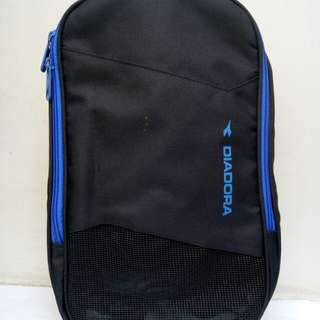 Tas Sepatu Futsal Shoes Bag -Diadora Warna Hitam- Baru & Original