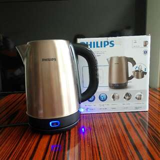 Philips 不銹鋼電水壼  1.7L  HD9322 Philips Stainless Steel Electric Kettle 1.7L HD9322