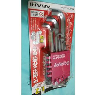 DAXKEY Wrench Hex Key Set - 9pcs Set, Std Length