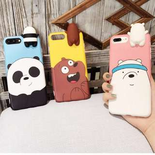 PO(165) We Bare Bears Grizzly Ice Bear Panda OPPO IPhone Phone Case
