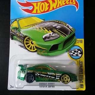 Hotwheels Toyota Supra Green