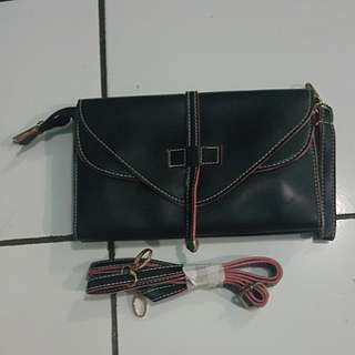 Pouch black pink