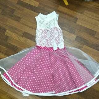 7-9years old pink kids dress
