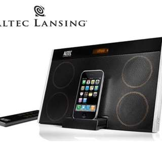 Altec Lansing Portable Stereo For iPhone & iPod With Rechargeable Battery (IMT702)