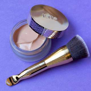 [IN STOCK] tarte empowered hybrid gel foundation with brush / spatula (dupe for shape tape hydrating foundation)